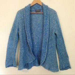 Wooden Ships Blue Open Flowy Sweater M L anthro